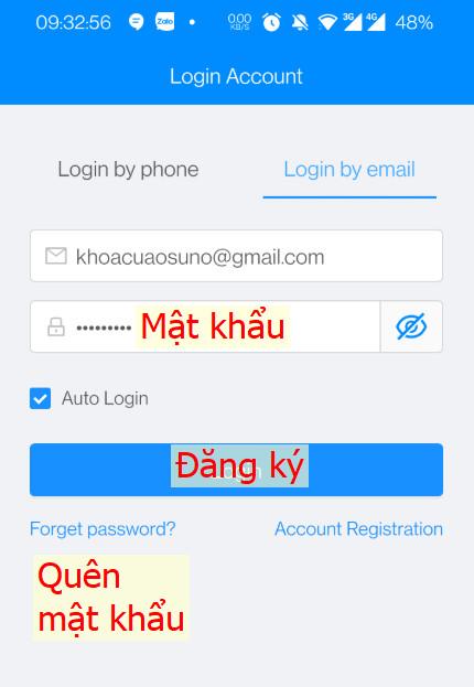 cài đặt app khóa osn3350