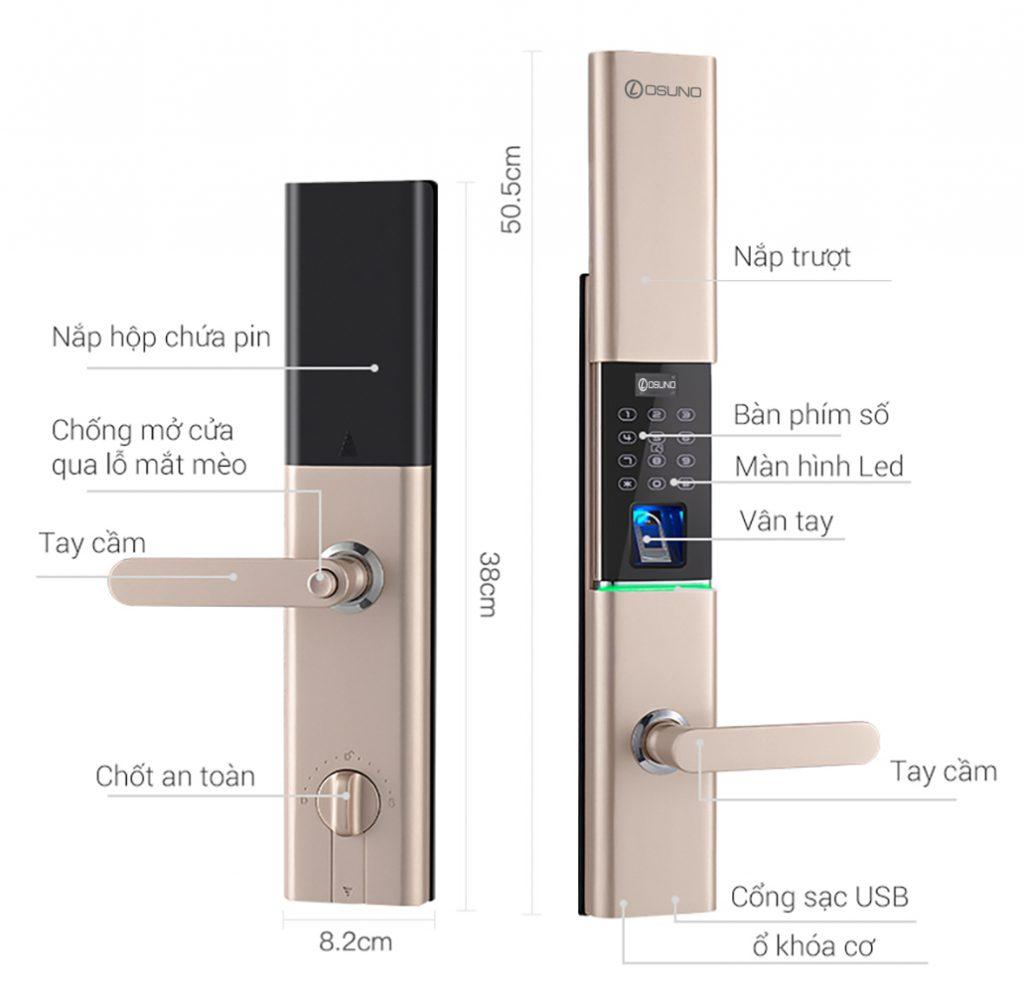 khóa vân tay osn-3365